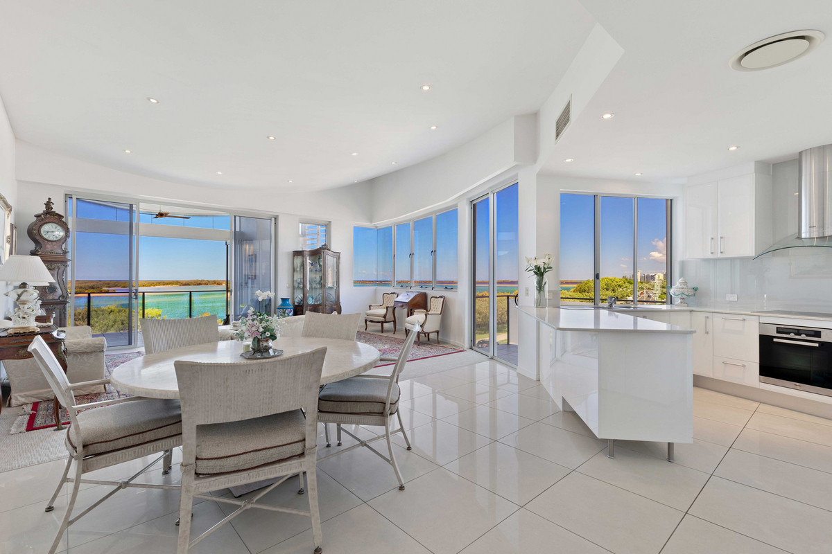 Penthouse Living With Stunning Passage Views- Rare Four Bedrooms With Separate Media Room
