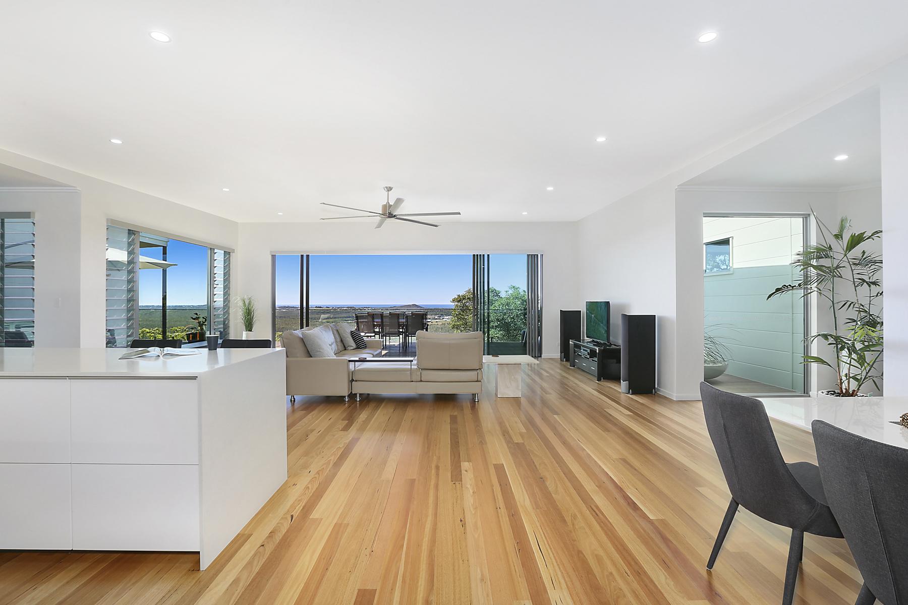 Quality designer home showcasing spectacular views