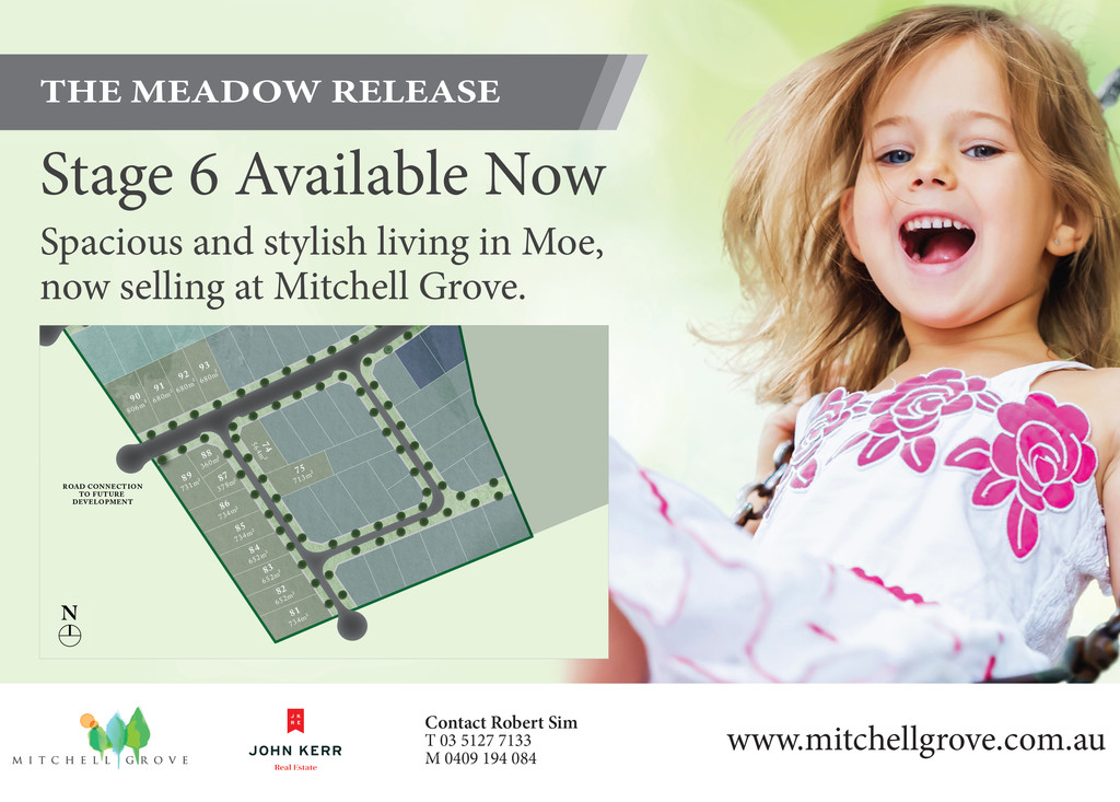 THE MEADOW RELEASE (STAGE 6) MITCHELL GROVE NOW AVAILABLE