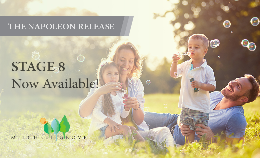 THE NAPOLEON RELEASE (STAGE 8) MITCHELL GROVE AVAILABLE NOW