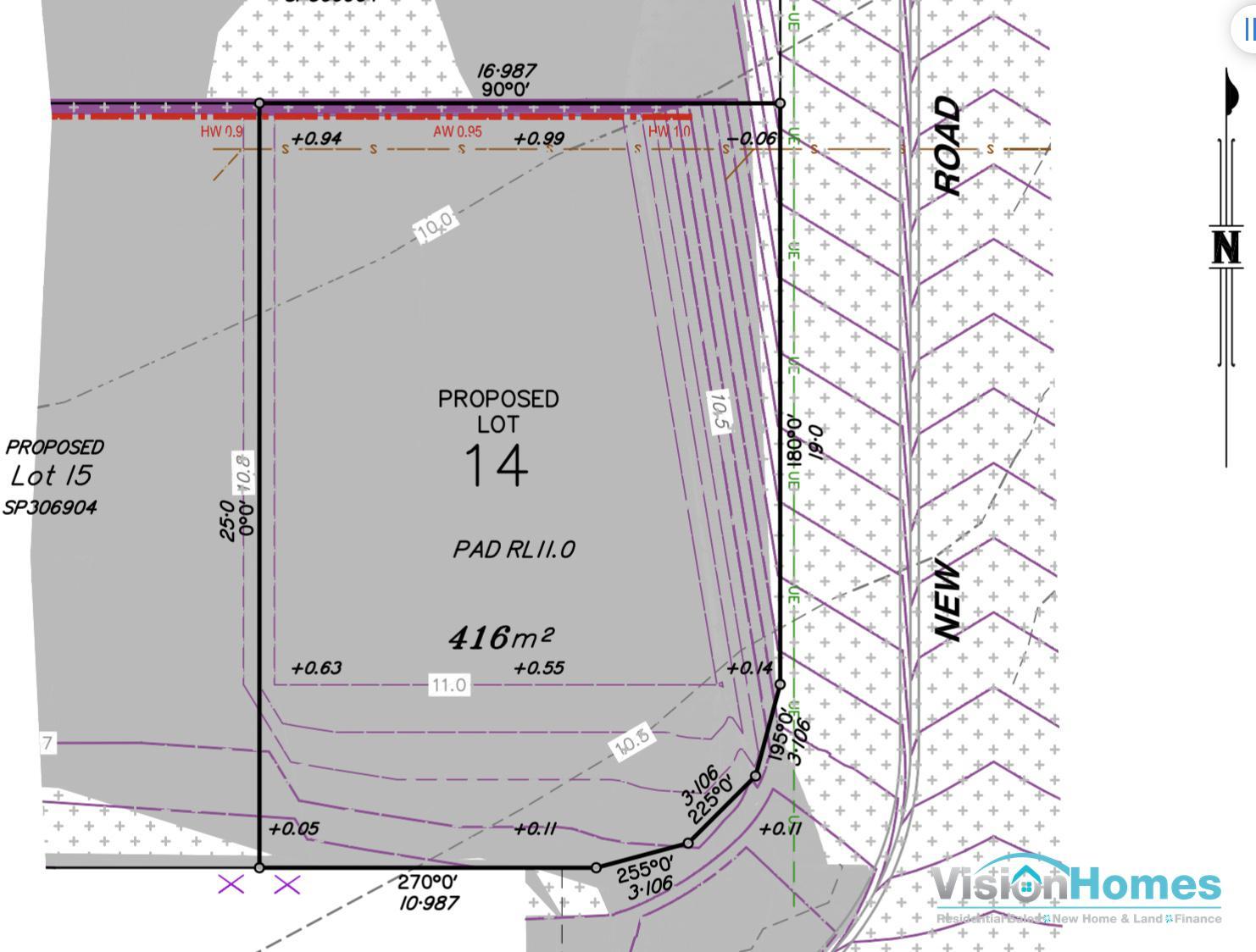 Lot 14 – Registered Land – 412m2