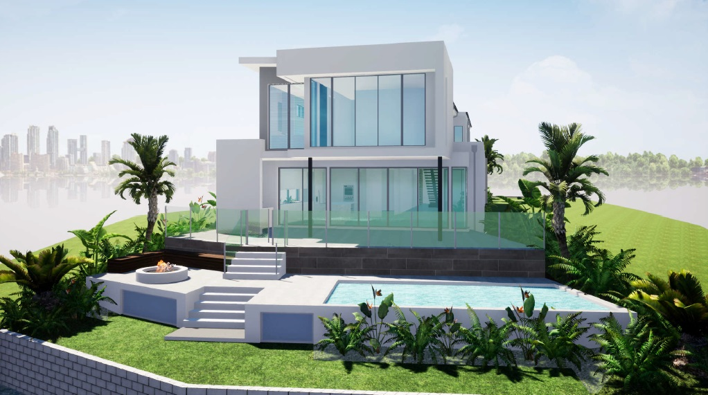 North facing water AND golf front land – 21m to water