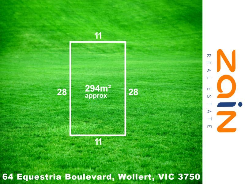 LAND FOR SALE – 308 sqm – 64 Equestria Boulevard, Wollert