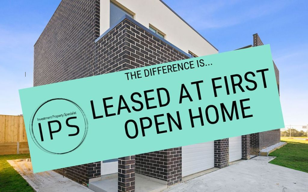 LEASED AT FIRST OPEN HOME!!!