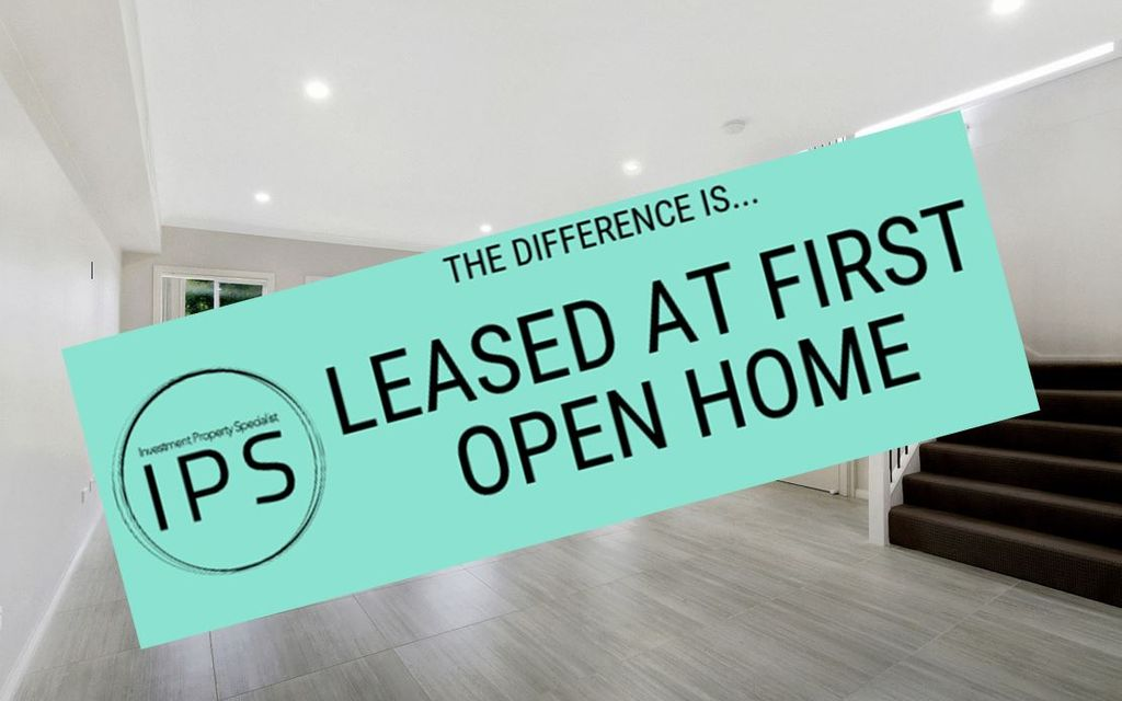 LEASED AT FIRST OPEN HOME !!