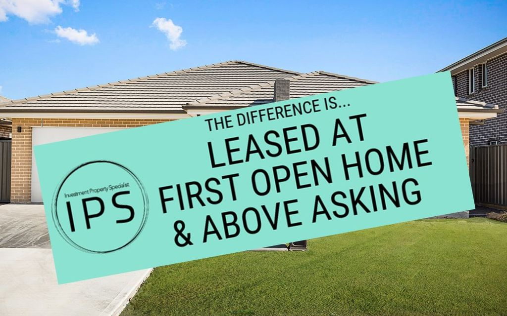 LEASED AT FIRST OPEN HOME AND ABOVE ASKING PRICE !!