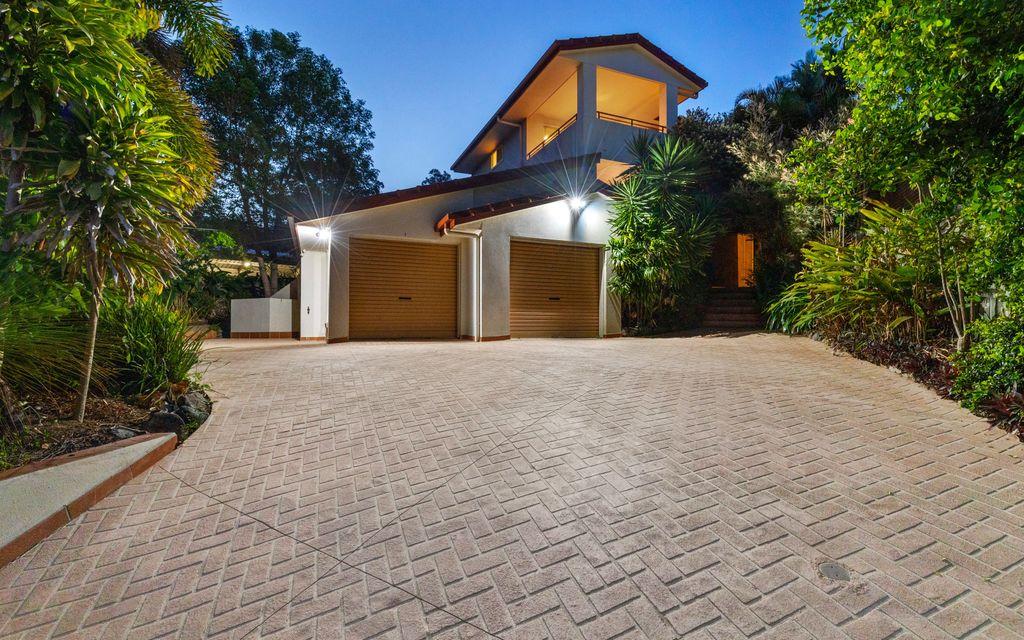 Impressive modern European inspired home showcasing CBD views