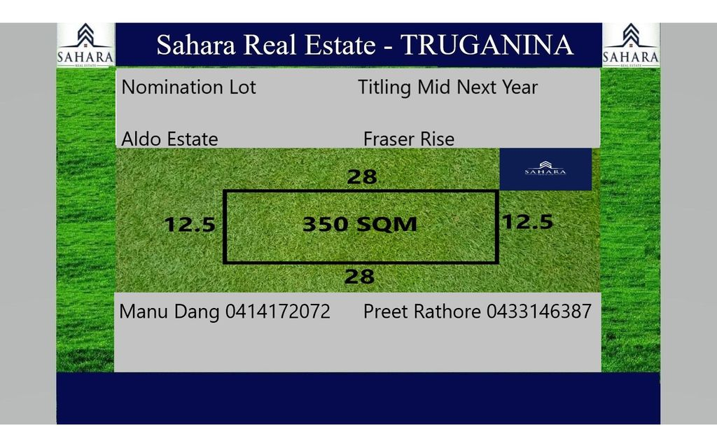350sq m Lot in Fraser Rise