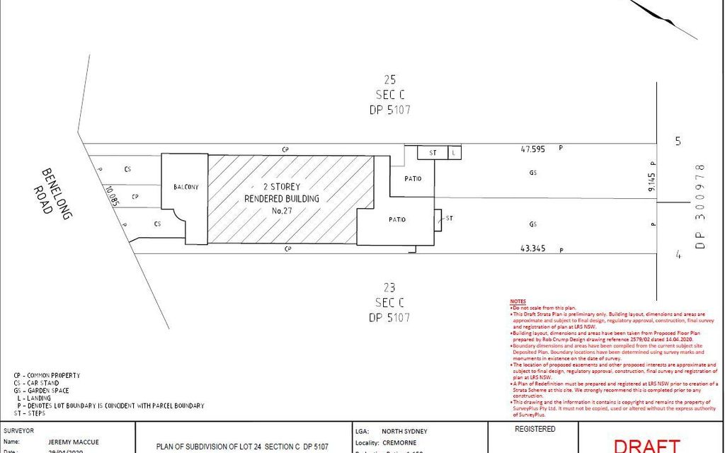DA Approved Subdivision or Large Family Home