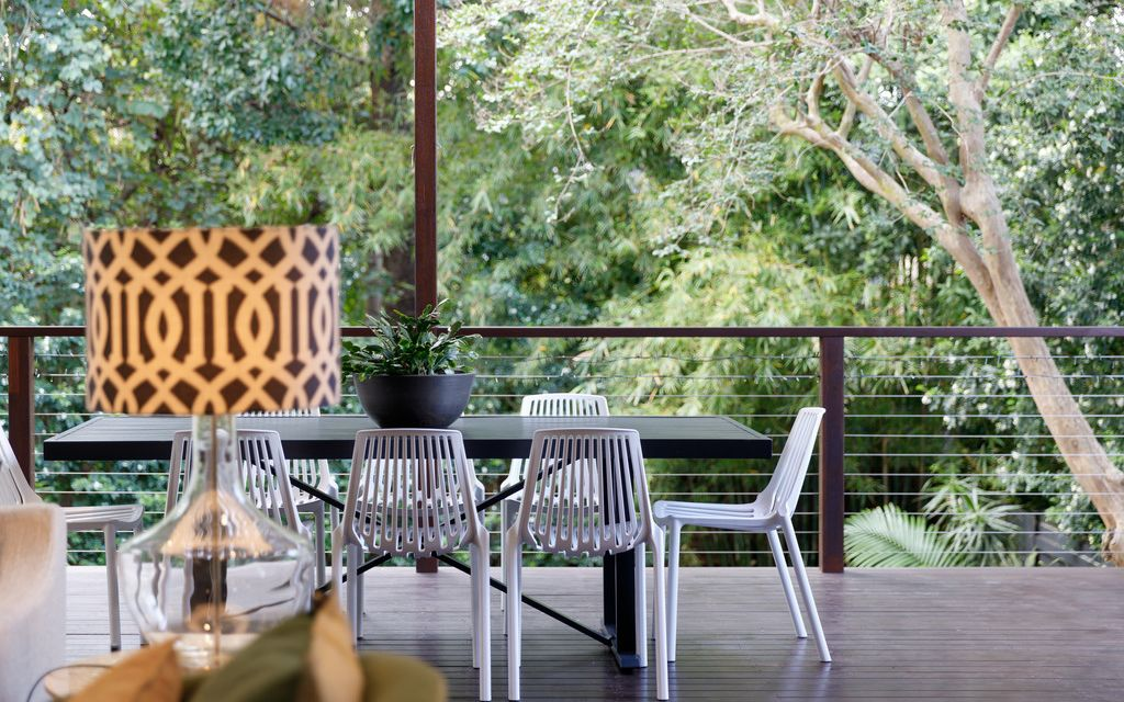 Beautiful Green Space Living … Contemporary Traditional Fusion