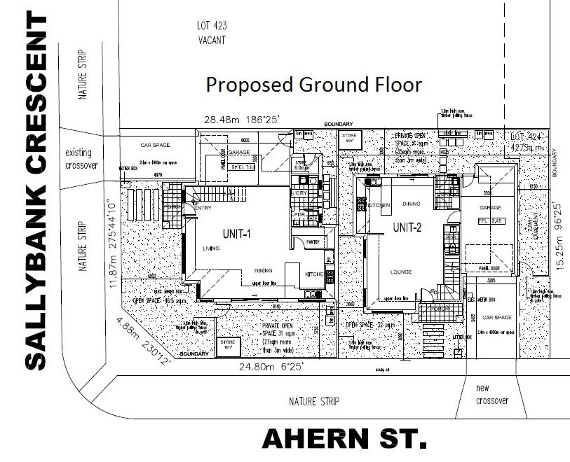 427sq Corner Block – Proposal under Approval for 2 Townhouses