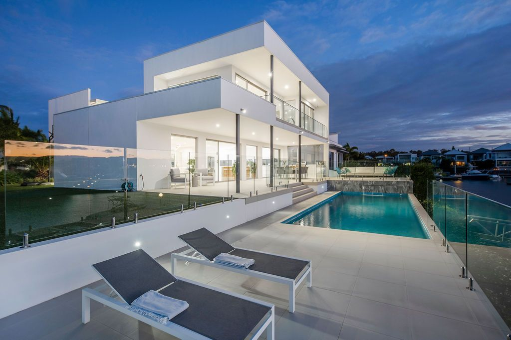 Contemporary Luxury with stunning wide water views.