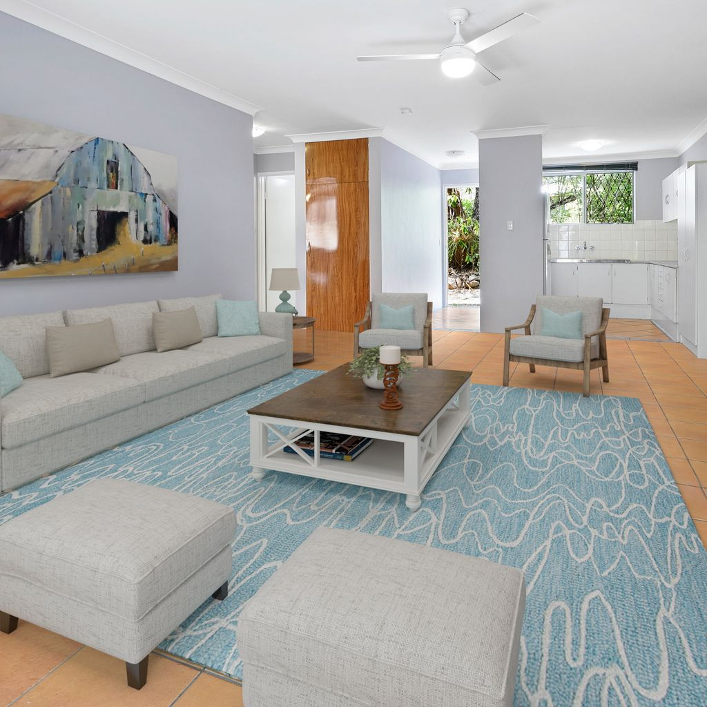 This delightful ground floor unit is spacious, private, and neat as a pin.