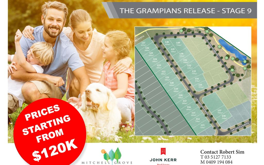 STAGE 9 MITCHELL GROVE ESTATE: THE GRAMPIANS RELEASE