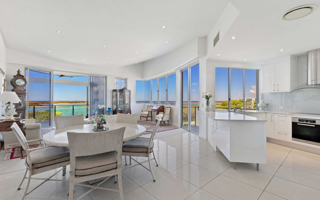 Penthouse Living With Stunning Passage Views- Rare Four Bedrooms Plus Media Room