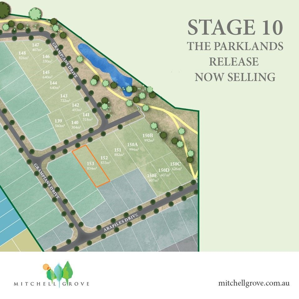 Lot 153 THE PARKLANDS RELEASE (STAGE 10 MITCHELL GROVE)