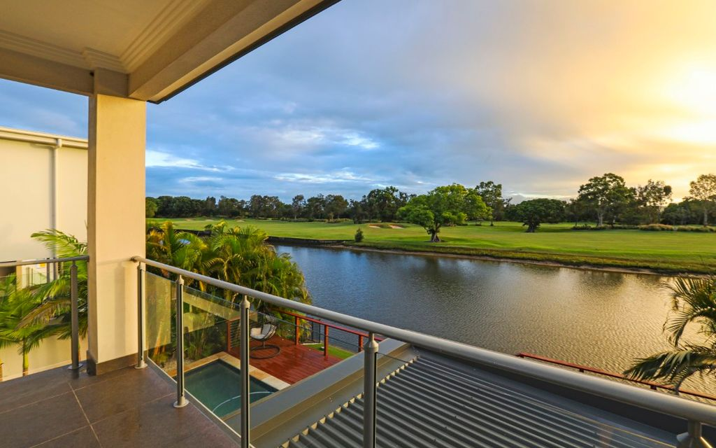 Golf & Water Frontage Residence Over Looking the 2nd & 8th Fairway Hope Island