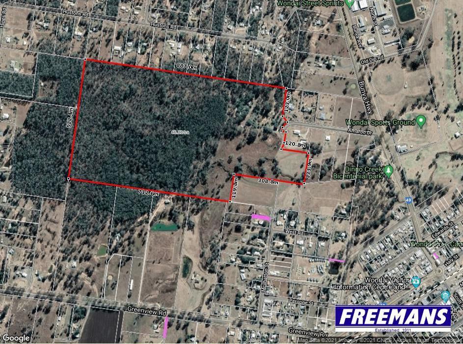 100 acres, so close to town, 24 block subdivision potential