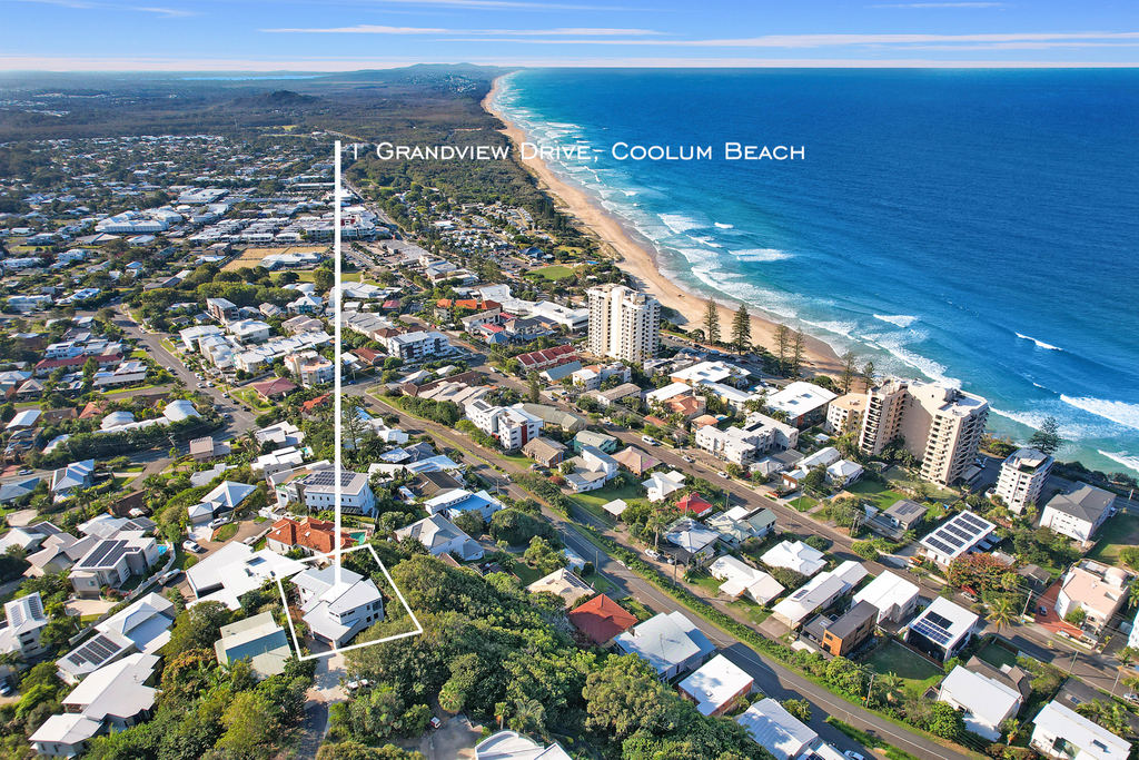 Views for days at this stunning Coolum Beach home