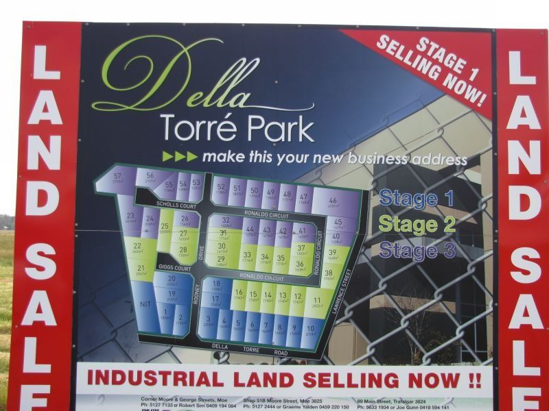DELLA TORRE PARK INDUSTRIAL LAND SUBDIVISION STAGE 1 NOW AVAILABLE