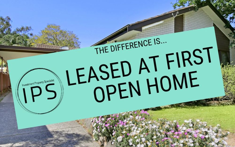 LEASED AT FIRST OPEN HOME!