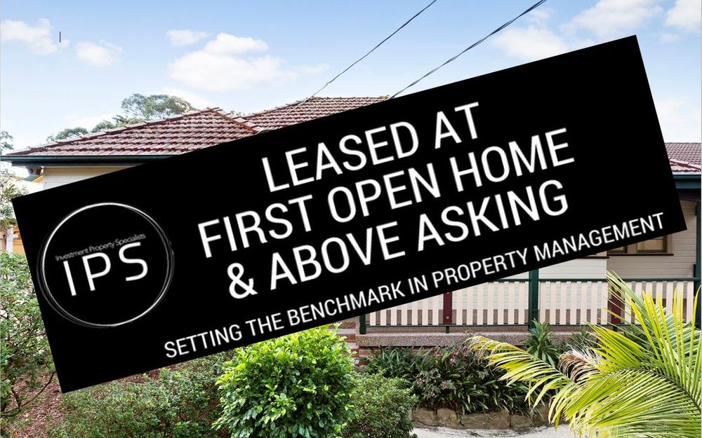LEASED AT FIRST OPEN HOME & ABOVE ASKING PRICE