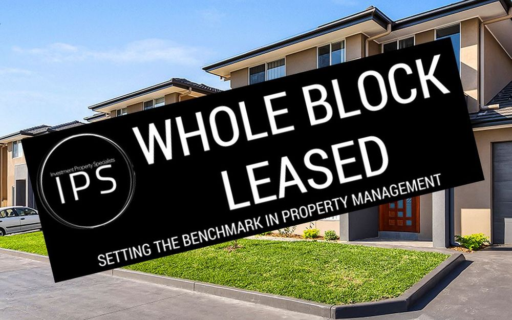 WHOLE BLOCK LEASED