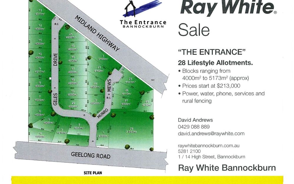 Lot 27 The Entrance Bannockburn