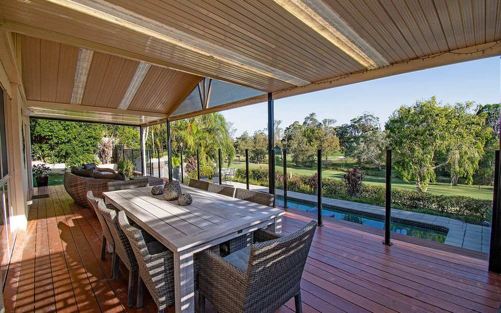 Elevated Entertaining Overlooking Picturesque Golf Course Views