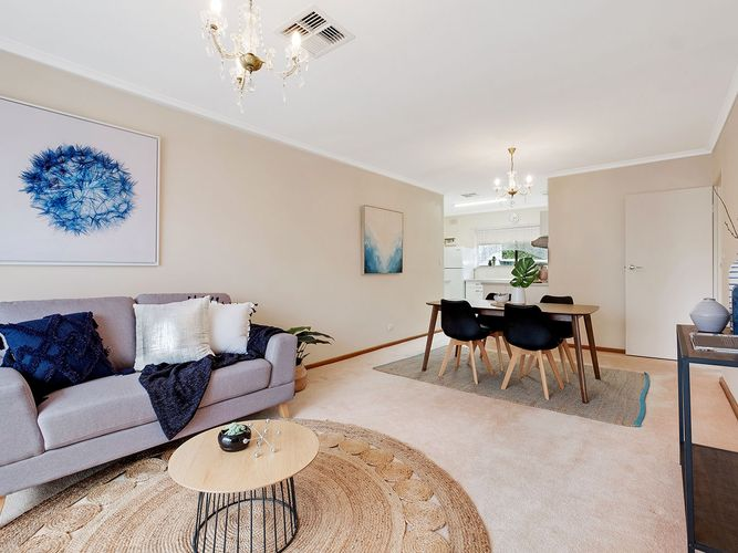 North facing unit with updated kitchen that is sure to Impress