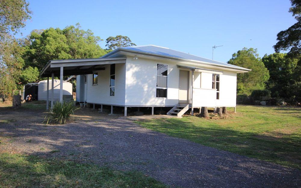 Modern home in rural landscape
