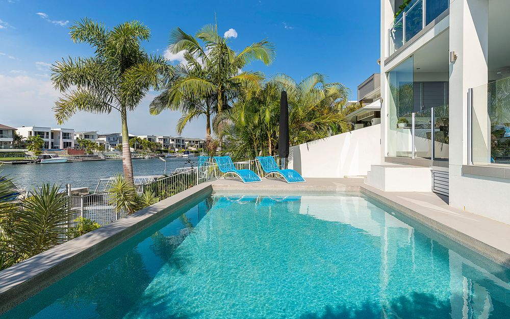 OPTION OF FULLY FURNISHED OR UNFURNISHED WATERFRONT LUXURY WITH POOL AND PONTOON