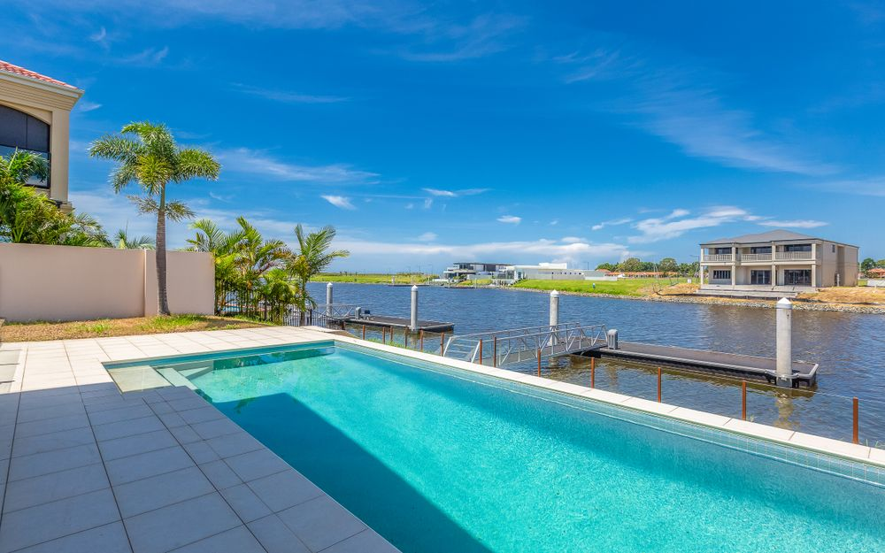 SPACIOUS WATERFRONT HOME WITH POOL AND PONTOON