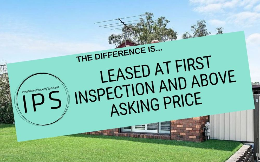 LEASED AT FIRST INSPECTION AND ABOVE ASKING PRICE!!!
