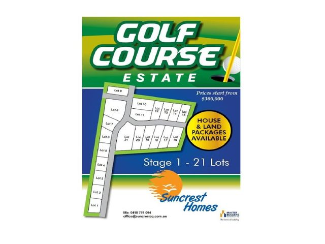 Approved Development for 60 Lots - Golf Course Estate-