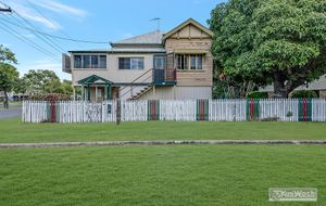 CLASSIC HIGH SET WEATHERBOARD HOME - 3 BEDROOMS PLUS SLEEP OUT AND SUN ROOM - EXCELLENT HEIGHT UNDER WITH EXTRA ROOMS.